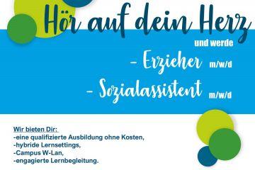 Freie Ausbildungsplätze zum/zur Sozialassistenten/in und Erzieher/in